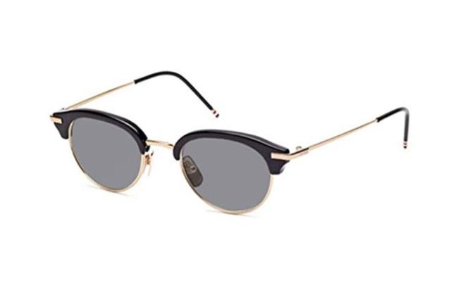 1225619ff9f Authentic Thom Browne TB 706 A-t-blk-gld Sunglasses Gold Black 47mm ...