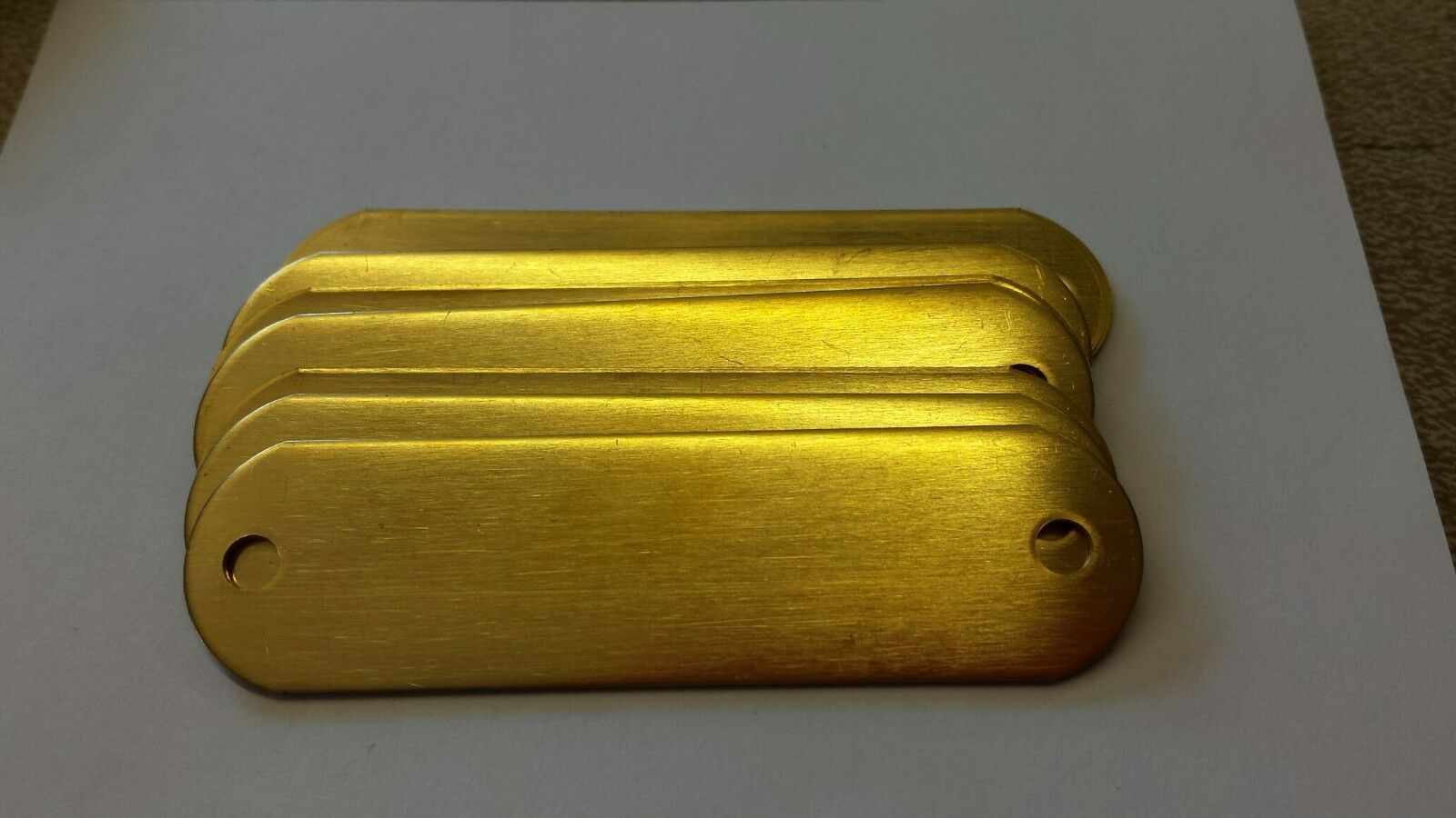 500 Blank Brass Identification tags for Dog Collars