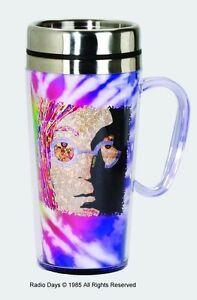 John Lennon Acrylic & Stainless Steel - Travel Mug with Handle
