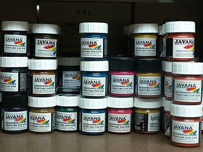 Seidenmalerei JAVANA Seidenmalfarbe silk dye 50ml - 58 verschiedene Farben