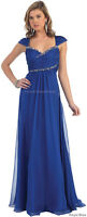 Formal Evening Gown Flowy Cap Sleeve Mother Of The Bride Dresses & Plus Size