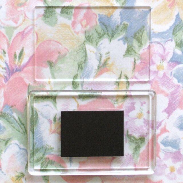 1x Blank Clear Acrylic Fridge Magnet 78x52mm Frame & 70x45mm Photo Size C1108