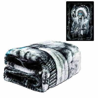 DGA Day of the Dead Lowrider Queen Size Soft Plush Blanket Reflection Skull Rose