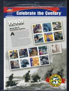 Estados unidos bloque 46/MINR. 3075-3089 post frescos-celebrate the century 1940s [57314