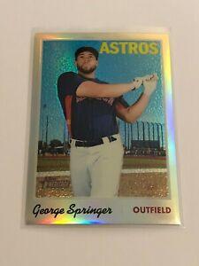 2019 Topps Heritage Chrome Baseball Refractor #/570 - George Springer - Astros