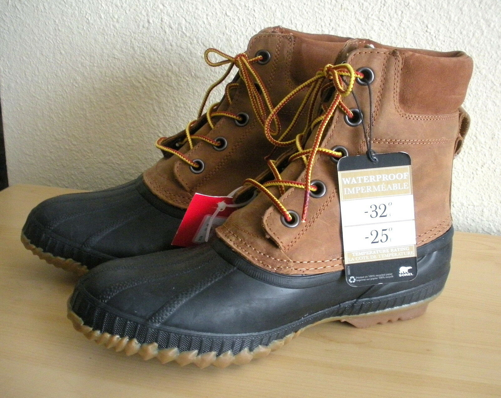 Sorel Cheyanne NM1704-224 Waterproof -25F -32C Mens Leather Rubber Snow Boots 10