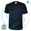 15 x Black T-Shirt Men/'s Classic Tee Shirt 100/% Cotton 180gsm Casual LOT 3 5