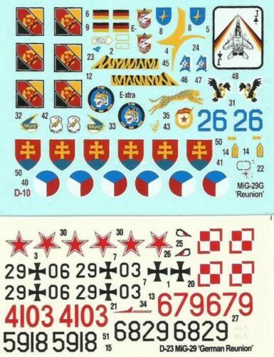 #D23 1//72 MISTERCRAFT GERMAN, POLISH, CZECH /& SLOVAK MKGS HALF PRICE MiG-29 A//G