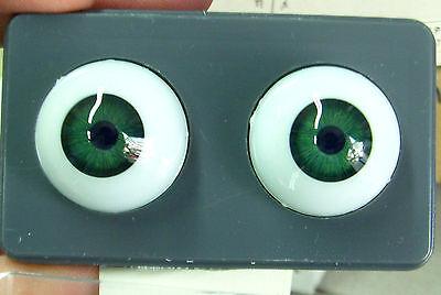 24mm Light Green Glastic Realistic Acrylic Doll Eyes