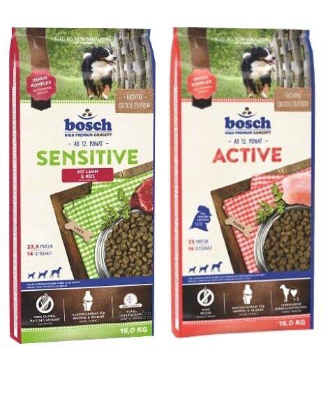 15kg Bosch Bosch Adult Sensitive Lamm & Reis  15kg Bosch Adult Active