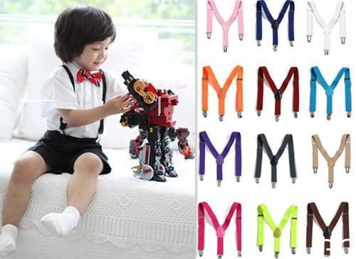 Kinder scherzt Kleinkind Verstellbare Hosenträger Hosenträger Elastic Kind I8V1