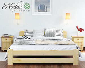 NODAX Pine Super King Size Bedframe 6ft Option With Under Bed