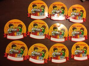 lego birthday 11 happy birthday name tag badges new party favors new