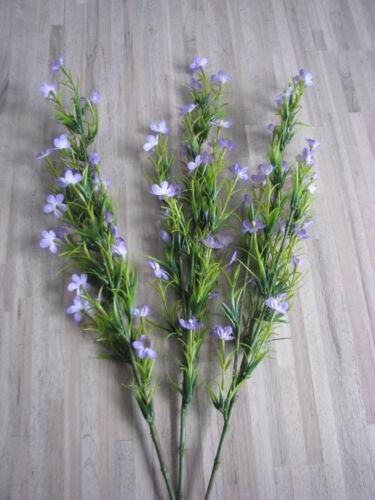 3 x Blütenzweig Blütenstiel Seidenblume Kunstblume 70 cm lavendel 52245-20 F18