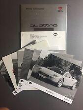 1992 Audi Quattro Spyder Concept Press Kit & Photos RARE!! Awesome L@@K