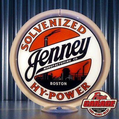 "Jenney Solvenized Hy-Power Gasoline - 13.5"" Gas Globe Lenses -  by Pogo's Garage"