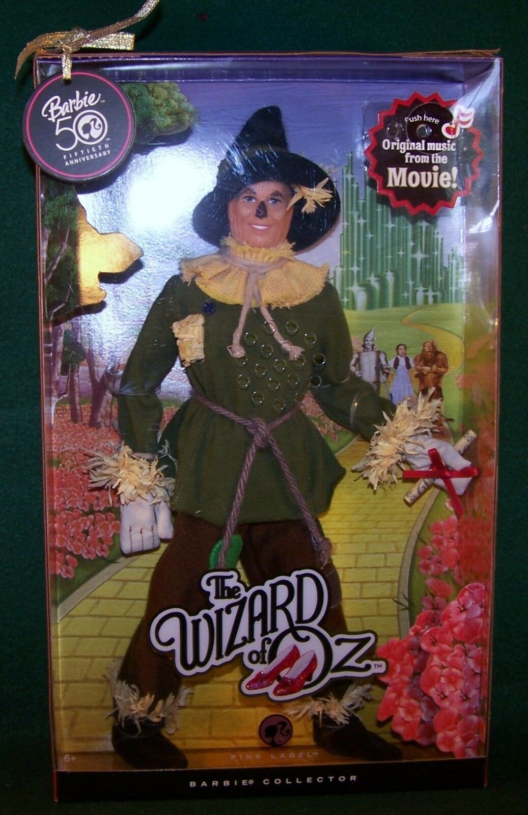 Mattel The Wizard Of Oz Pink Label The Scarecrow 70Th Anniversary NRFB
