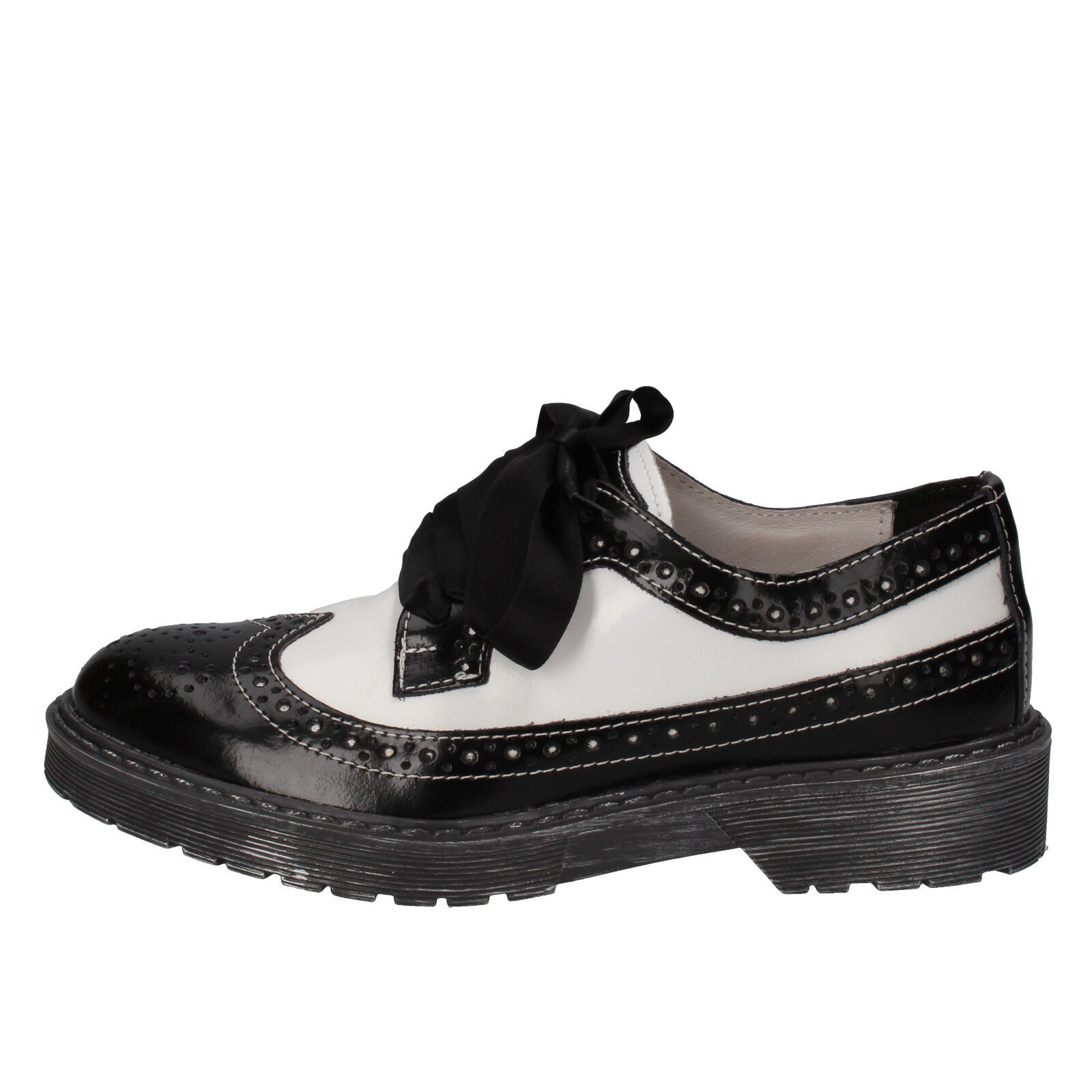 Scarpe donna BEVERLY 39 HILLS POLO CLUB 39 BEVERLY classica bianco nero pelle AE930-E 5ef210