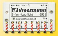 SH Viessmann 5040 Warnbaken, 8 Stück mit Lauflichtelektronik Fabrikneu
