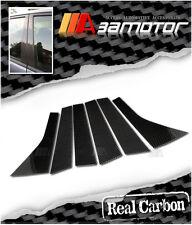 Real Dry Carbon Fiber Door Pillar Panel Decal Covers for 08-11 Honda Fit / Jazz