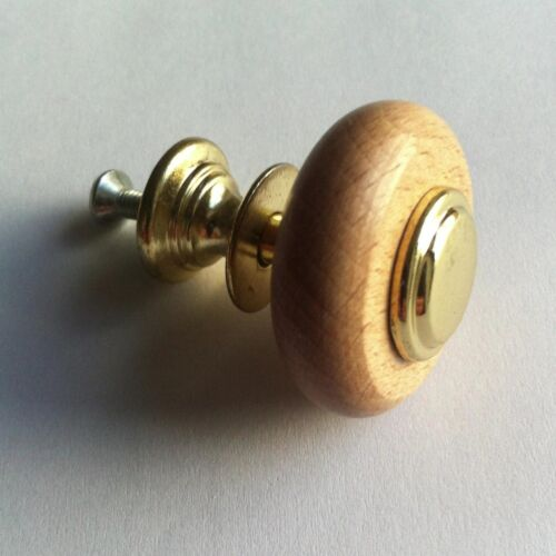 Gold-beech solid wood  Natural Kitchen Cupboard Drawer Door Knobs NEW cabinet
