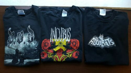 Vintage Tour Shirt Lot POD Incubus Aquabats 2003 2