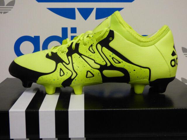 online retailer b80ca 1e69a adidas X 15.1 FG/AG Mens Soccer Cleats - Solar Yellow/Black B32782 Sz 12