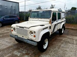 1988 LAND ROVER DEFENDER 110 TURBO DIESEL STATION WAGON PROJECT - USA EXPORTABLE