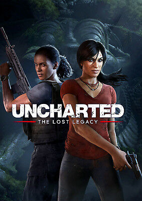 Uncharted The Lost Legacy Poster New 2017 Ps4 Game Free P P