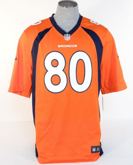 hot sale online f0f1b 47902 Nike NFL On Field Denver Broncos Thomas 80 Orange Football Game Jersey Mens  NWT