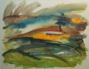 Christian Roos Wilhelmshaven watercolour unsigned O-99