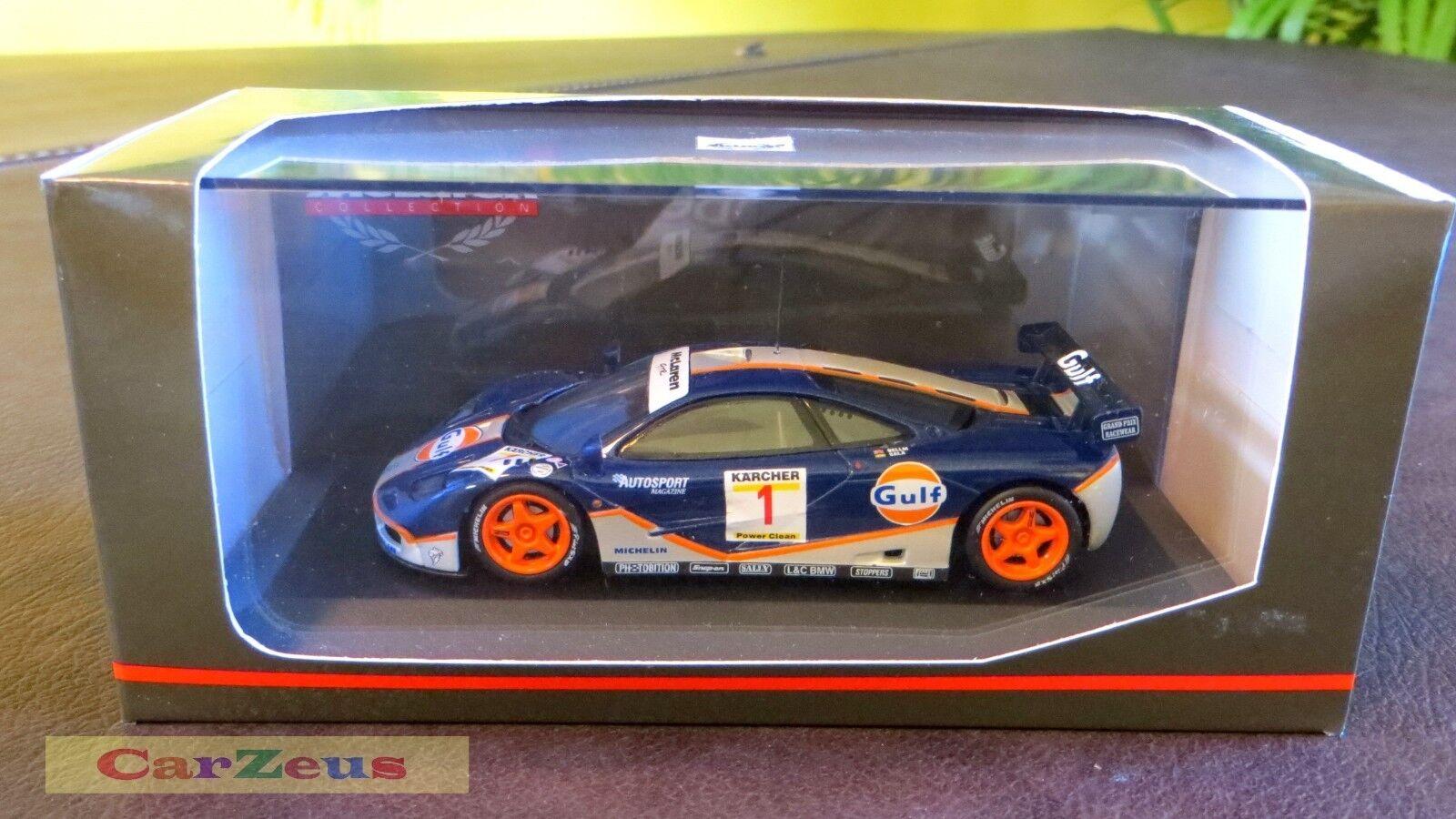 1 43 Minichamps, McLaren F1 GTR, 4hr Nürburgring 1995, 1995, 1995, Gulf Racing WINNER 8a5f59