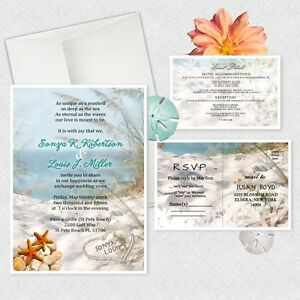 Ocean theme wedding invitations personalized beach bridal shower image is loading ocean theme wedding invitations personalized beach bridal shower filmwisefo