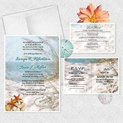 Ocean Theme Wedding Invitations Personalized Beach Bridal Shower Invitation Ebay