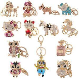 Key-Ring-Bag-Charm-Anime-Character-Rhinestone-Crystal-CZ-Keyring-Keychain-Gift