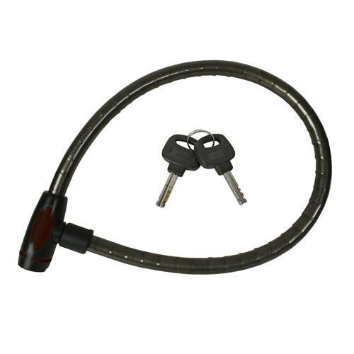 950mm Heavy Duty Cable Lock Bike Bicycle 16mm Diameter Vinyl Coated 2 Keys