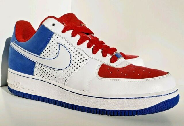 Classic Nike Air Force One AF1 Mens Shoes Size 10 Red White Blue 315122 113
