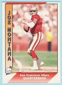 ca1443df873 1991 PACIFIC JOE MONTANA  464 SAN FRANCISCO 49ERS NFL FOOTBALL HALL ...