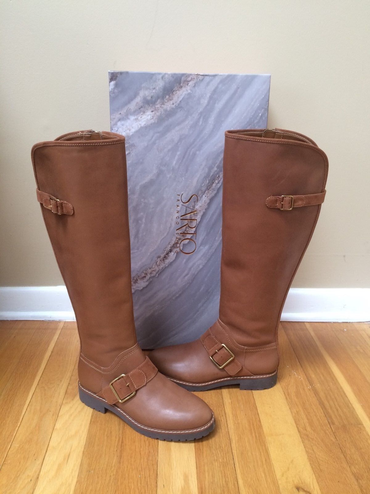 FRANCO SARTO 'Cutler' Tall Leder Riding Stiefel Größe 6.5M Brand New in Box