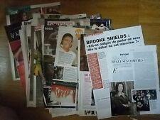 Lot de coupures de presse BROOKE SHIELDS clippings