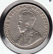 F107 CANADA 5 CENTS 5c COIN 1925 - ALMOST FINE $110.00 SCARCE KEY DATE