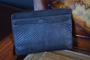 Humor Kreditkartenhalter Herren Python Schwarz Handmade Cardholder Ma Leather Amalfi25 Kleidung & Accessoires