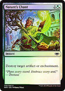 Nature/'s Chant FOIL Modern Horizons NM-M White Green Common MAGIC CARD ABUGames