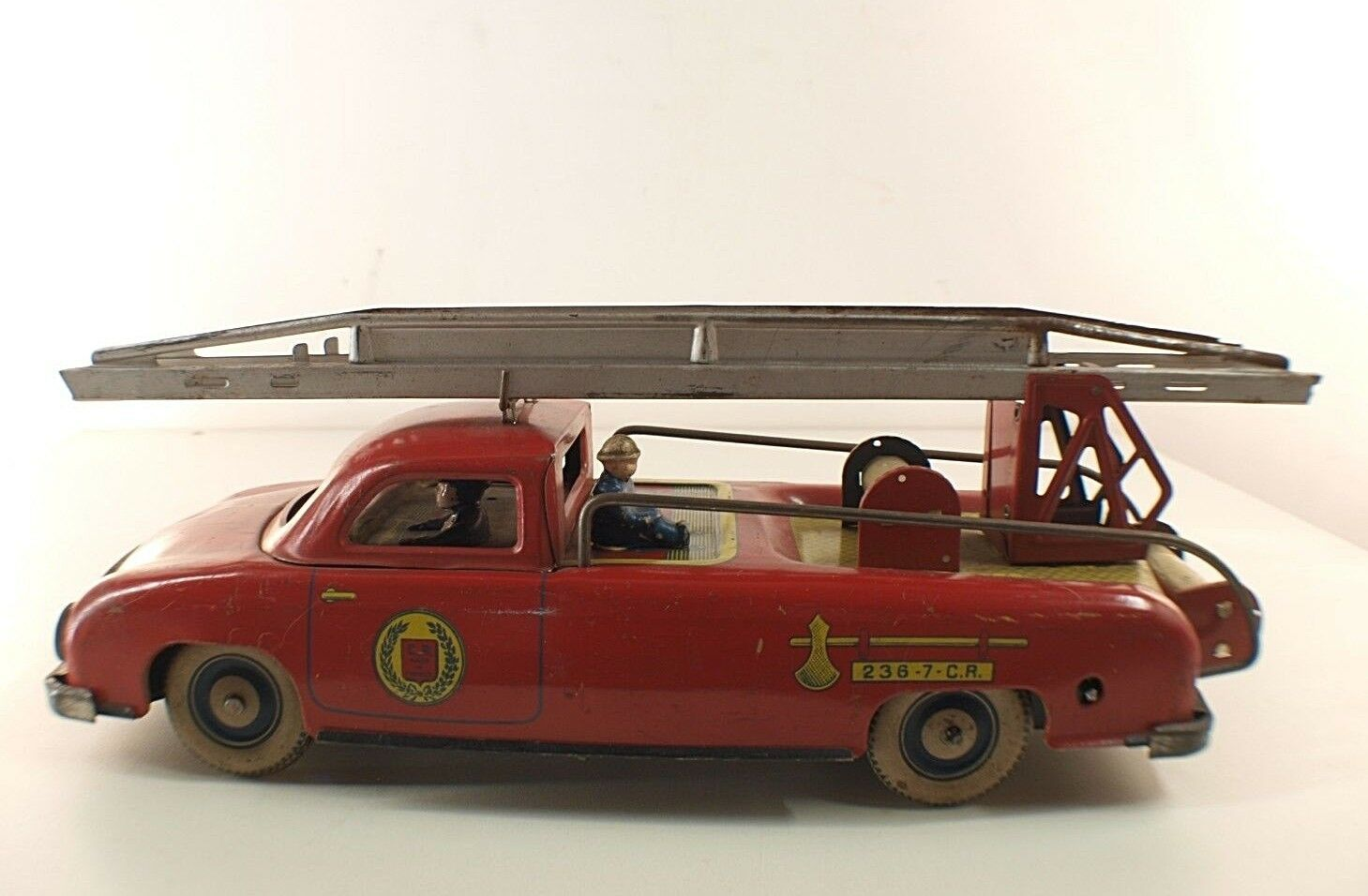 Cr charles rossignol 236-7 delahaye pompier moteur reibung t ô le tin toy selten