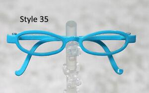 1/3 1/4 BJD SD 60cm 45 eye glasses eyeglasses Dollfie Blue clear lens Style 35