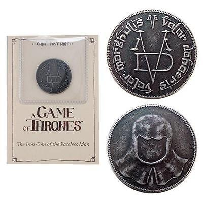 GAME OF THRONES Official Licensed IRON COIN of the Faceless Man Valar Morghulis