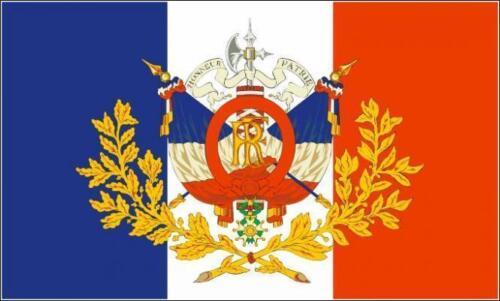 Fahne Flagge Frankreich mit historischem Wappen 30 x 45 cm Premiumqualität