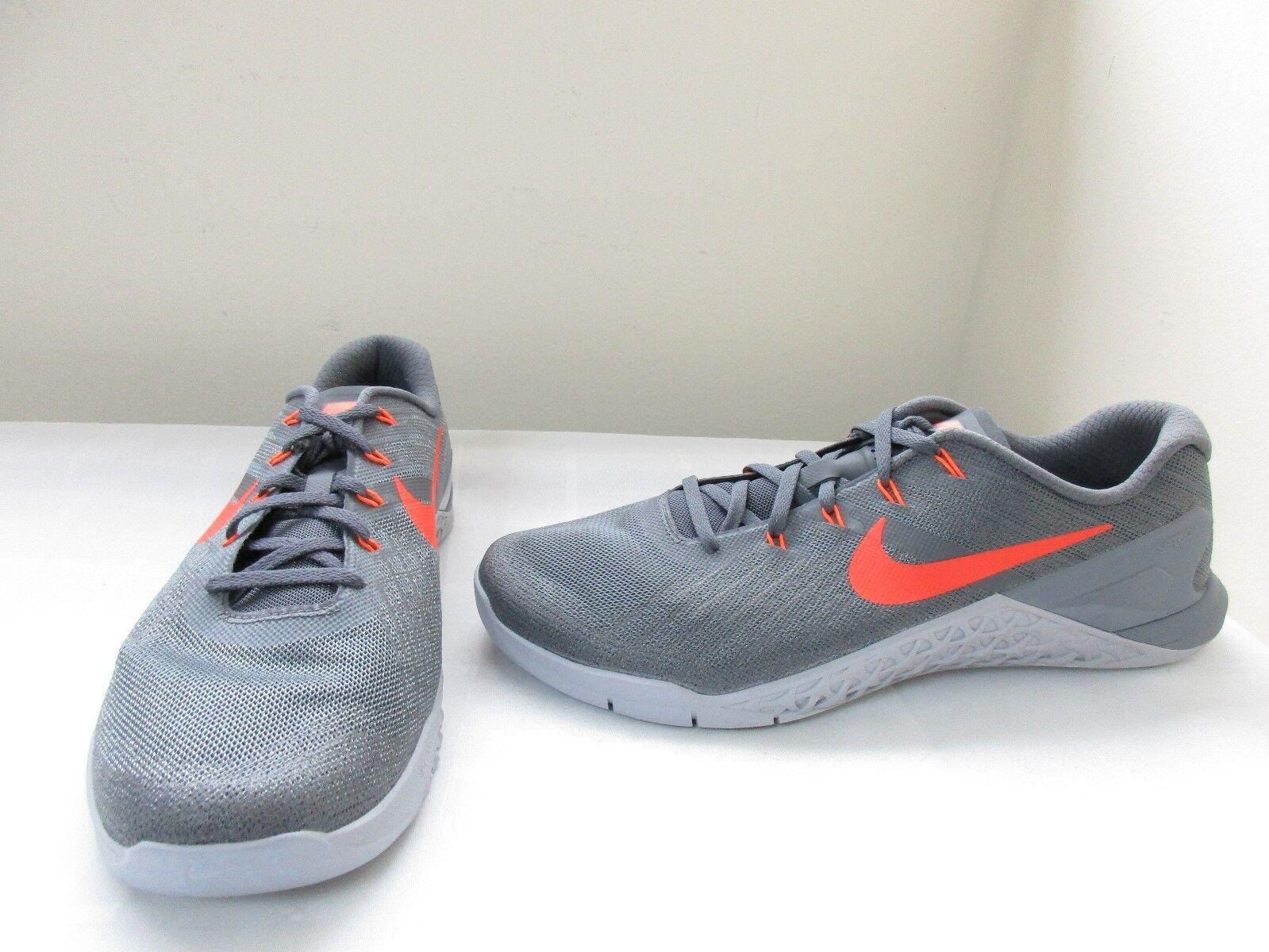 New  Men's Nike Metcon 3 Athletic Training Shoe 852928-007 Gray/Orange dc 1Q