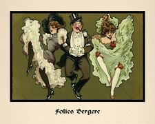 "A 10"" x 8"" Art Deco Print - Folies Bergere"