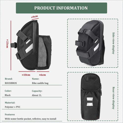 ROCKBROS Fahrrad Satteltasche Fahrradtasche Wasserdicht Tasche für Fahrradsattel